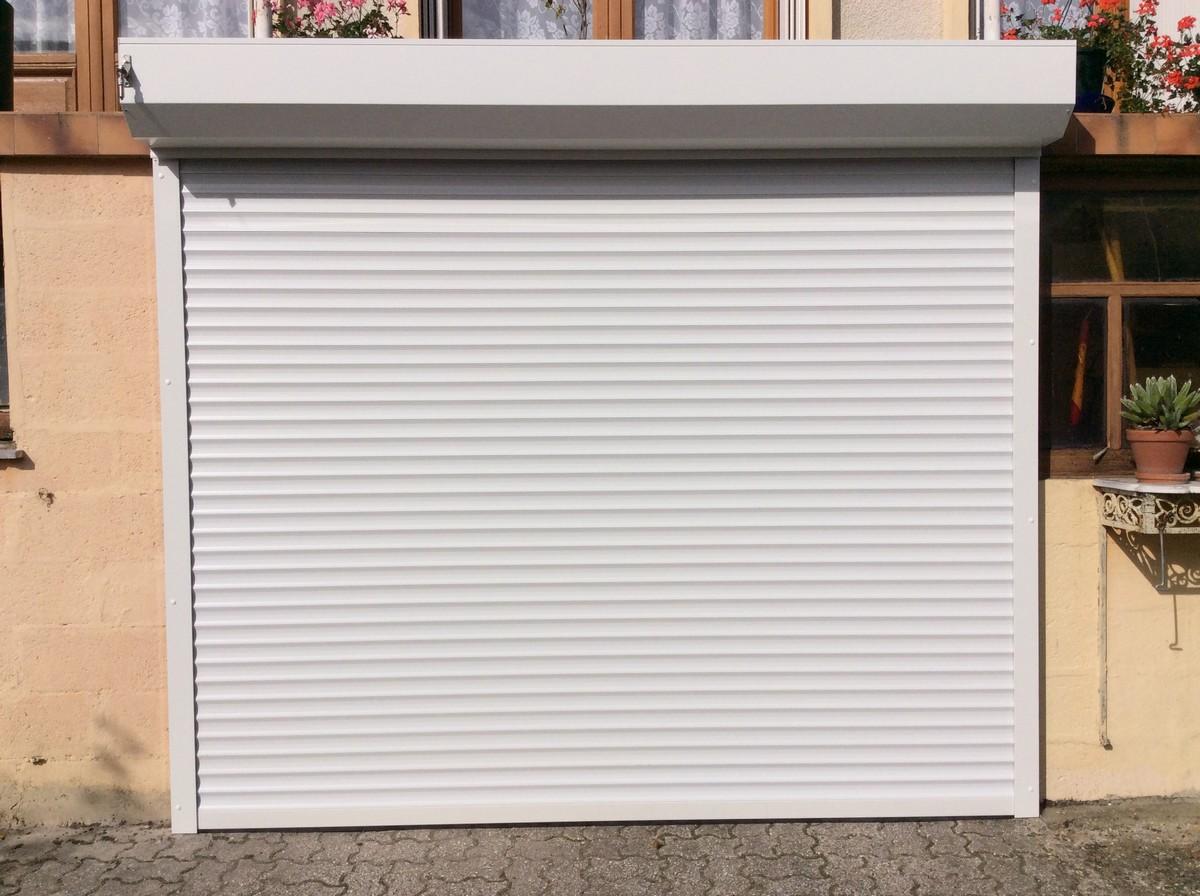 porte garage blanche beauvais - Baie Libre